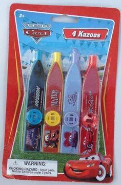 Pixar Disney Cars Kazoo Party Favor - One Pack of 4 Kazoos by What Kids Want, http://www.amazon.com/dp/B00BO1QX96/ref=cm_sw_r_pi_dp_wZA9rb008Y639