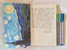 Drawing Art Works from famous painters and then I will write a short story beside it - Journal