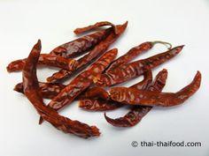 Getrocknete Rote Thai Chilis