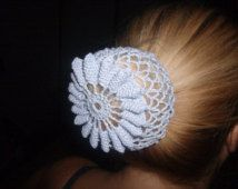 Crocheted Bun Net Free Pattern From Httpwwwravelrycom - Diy bun cover