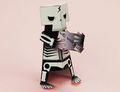 Skeletoon Paper Toy Free Template Download - http://www.papercraftsquare.com/skeletoon-paper-toy-free-template-download.html#Skeletoon