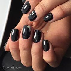 @amur_nails used our black marble nail wraps in #ashfordblack for this pretty mani  #ncla #shopncla #marble #blackmarble #marblenails #nails by shopncla