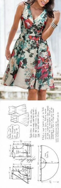 Vestido Chamesier manga longa – DIY – molde, corte e costura – Marlene Mukai Sewing Dress, Dress Sewing Patterns, Sewing Clothes, Clothing Patterns, Diy Clothes, Clothes For Women, Clothes 2018, Casual Clothes, Diy Fashion