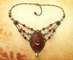 37,87€. Josephine classy Victorian inspired necklace by WatchThinkCreate