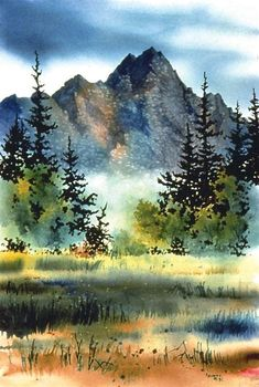 Image result for Watercolor Paintings Landscapes