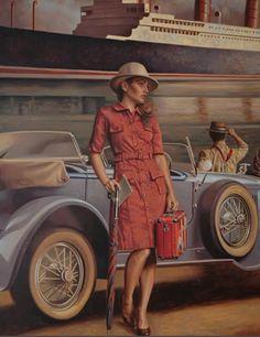 Peregrine Heathcote Comics Vintage, Vintage Posters, Vintage Art, Florence Academy Of Art, Paint Photography, Art Deco Posters, Car Posters, Travel Posters, Illustration Art