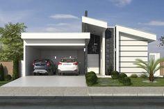 Planta de casa térrea com área gourmet - Projetos de Casas, Modelos de Casas e Fachadas de Casas