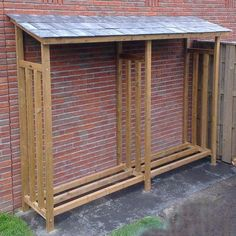You want to build a outdoor firewood rack? Here is a some firewood storage and creative firewood rack ideas for outdoors. Outdoor Firewood Rack, Firewood Holder, Firewood Shed, Firewood Storage, Outdoor Storage, Garden Tool Storage, Shed Storage, Diy Storage, Garden Tools