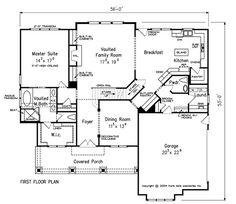 Kensington Park First Floor Plan | Moseley, Virginia :: Harring Construction Company