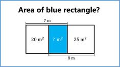 Find the area of the middle rectangle Brain Teasers, Maths, Geometry, Bar Chart, Middle, Kids, Young Children, Mind Games, Boys