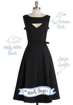 The Evening Unfolds Dress in Black   Mod Retro Vintage Dresses   ModCloth.com
