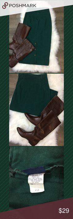 Vintage Hunter Green Denim Maxi Skirt Vintage Hunter Green Denim Maxi Skirt   Size 5/6 Skirts Maxi