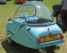 """The Peel Trident was the second three-wheeled microcar made by the Peel Engineering Company on the Isle of Man"""