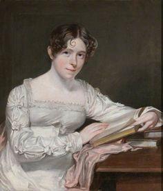 """Mary Dorothea Whitmore, Mrs Francis Laing"" (c.1820-c.1830).English School,possibly Margaret Sarah Carpenter (English, 1793-1872). Oil on canvas.Dudmaston, Shropshire, Midlands, National Trust."