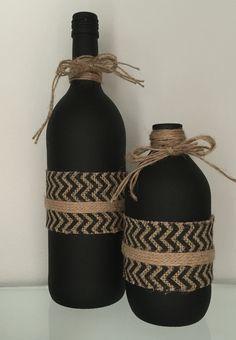 Water Bottle Crafts, Plastic Bottle Crafts, Diy Bottle, Bottle Art, Diy Crafts For Gifts, Jar Crafts, Wine Bottle Centerpieces, Wine Bottle Design, Empty Wine Bottles