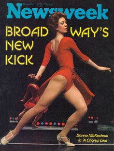 Newsweek magazine, December 1, 1975 — Donna McKechnie in A Chorus Line