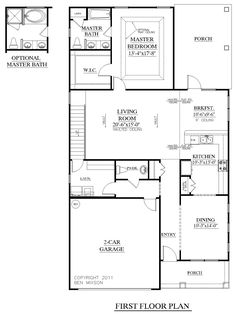 House Plan 1997 HICKORY first floor plan