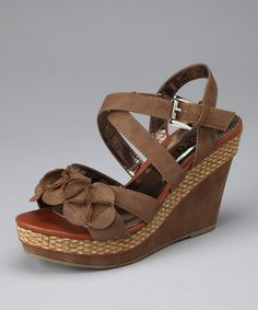 Take a look at this Tan Almeda Wedge by If The Shoe Fits: Women's Footwear on #zulily today!