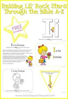 Free Bible Verse Printables ~ Letter I ~ 3 John 1:11 ~ Raising Lil Rock Stars