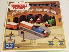 NOS THOMAS THE TANK and Friends Turntable Playset ERTL Gold Rail Series 1993 #Ertl