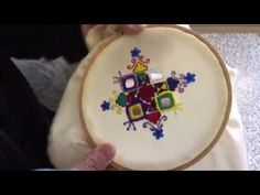 Hand Embroidery easy stitch how to make Balochi stitch with Mirror - YouTube