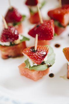 BYOB Happy Hour Picnic: Watermelon Strawberry Skewer