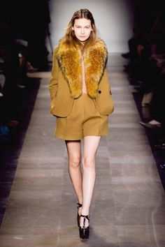 shorts and thin long-sleeve blouse | Carven Fall 12