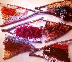 Weave a rug in a self made frame