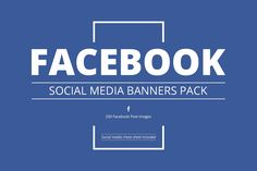 Facebook Social Media Banners Pack by Web Donut on @creativemarket