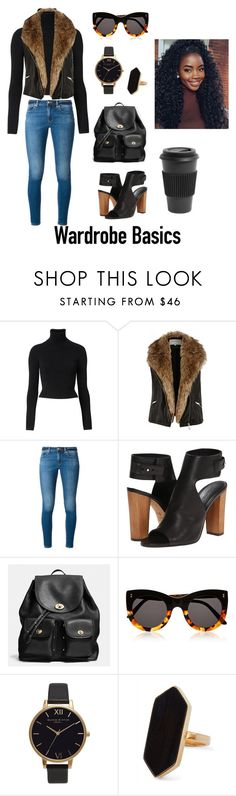 """""""Untitled #172"""" by gorgeouslor ❤ liked on Polyvore featuring Witchery, River Island, MICHAEL Michael Kors, Vince, Coach, Illesteva, Olivia Burton, Jaeger and Homage"""