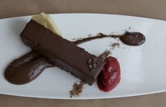 Chocolate Terrine--their dessert.