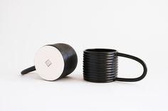 Satin Black Galilei Mug Set