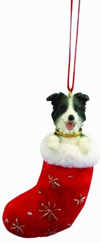 #furniture Announcing the newest holiday tree trend! These #Border Collie Christmas stocking ornaments measure 4 inches tall and 2 inches wide. Every ornament is...