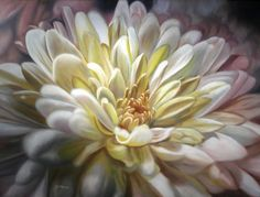 golden chrysanthemum painting - demo. don't let all these flower petals intimidate you!