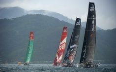 Groupama 4, Abu Dhabi & Camper during the in-port race / Groupama in the Volvo Ocean Race / Crédit : Yvan Zedda
