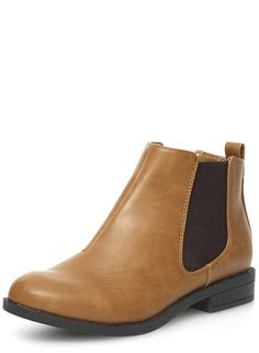 Tan chelsea gusset boots - Dorothy Perkins