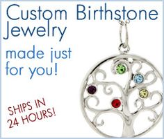 Eve's Addiction has really beautiful jewelry the pieces I've gotten are really great quality! I got this birthstone tree necklace for Mother's Day with all of our birthstones on it.