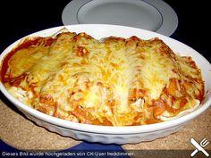 Enchiladas mit Hähnchen und Mais