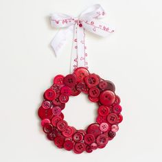 Learn how to create this cute yet quick DIY Button Wreath, perfect for your Christmas tree!