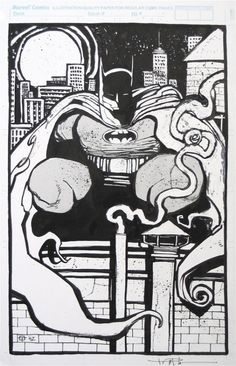 Batman Try-Out Piece Ted McKeever, in Ted McKeever's Pitches & Try-Outs Comic Art Gallery Room Alex Toth, Comic Kunst, Creative Artwork, Comic Page, Pencil Art, Comic Books Art, Art Google, Ted, Art Gallery