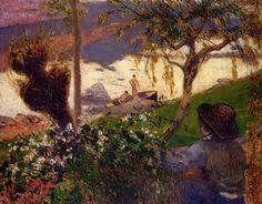 La Rivière blanche ou Paysage de Bretagne (ancien titre) Date 1888 by Paul Gauguin