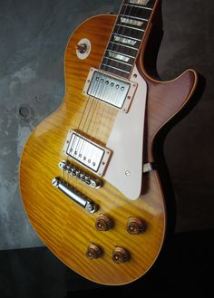 """Gibson Custom Shop Historic Collection Les Paul 1959 Reissue """"Hand Selected V.O.S. 2014 Double Dirty Lemon http://www.waku-ya.com/product/1136"""