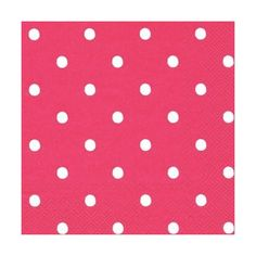 Large Spot Red Lunch Napkin PlatesAndNapkins.com ($5.95) ❤ liked on Polyvore