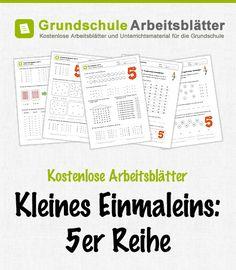 Kostenlose Arbeitsblätter und Unterrichtsmaterial zum Thema Kleines Einmaleins: 5er-Reihe im Mathe-Unterricht in der Grundschule.