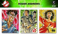 Ghostbusters trading cards sketch previews part 2 | Cryptozoic Entertainment