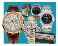 """Time after Time"" by etiquetteitaly on Polyvore featuring Patek Philippe, Audemars Piguet, Rolex, mens, men, men's wear, mens wear, male, mens clothing e mens fashion"
