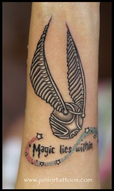 Harry potter snitch tattoo