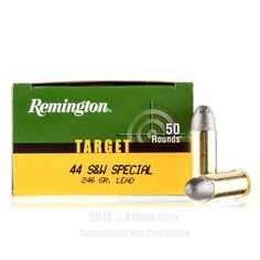 Remington Target 44 S&W Special Ammo - 50 Rounds of 246 Grain LRN Ammunition #44Special #44SpecialAmmo #Remington #RemingtonAmmo #Remington44Special #LRN
