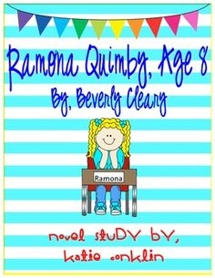 This is a novel study to go along with the book Ramona Quimby, Age 8 written by Beverly Cleary. It is appropriate for grades 2-4 but could be easily be used for enrichment or remediation in grades 1 & 5. Ramona Quimby, Age 8 has a lexile level of 861 and a Fountas and is Pinnell level O.