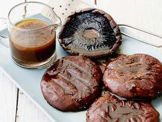 Grilled Portobello Mushrooms with Balsamic Recipe : Alex Guarnaschelli : Food Network - FoodNetwork.com